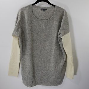 Vince Gray/Off White Cashmere/Wool Sweater Size S